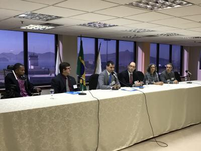 Workshop in Rio, Brazil with experts on a panel.