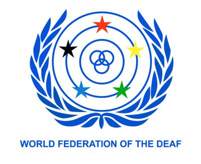 World Federation of the Deaf Logo