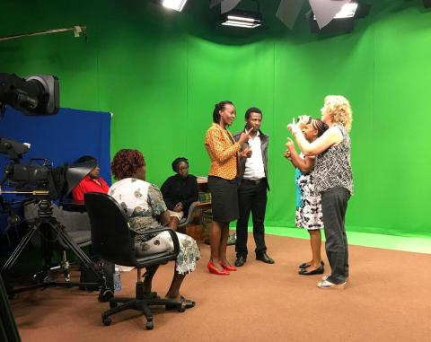 Sign Language Recording session in Nairobi Kenya