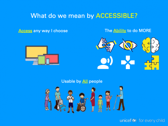 Image describing accessibility concerns and usability by all people